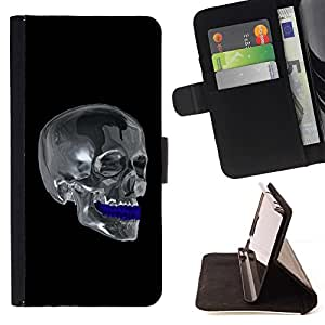 For Huawei Ascend P8 (Not for P8 Lite) Case , Cráneo del cromo- la tarjeta de Crédito Slots PU Funda de cuero Monedero caso cubierta de piel