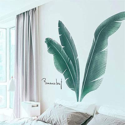 AAPBB Leaf Wall Decals Leaves Wall Stickers Waterproof Vinyl Self Adhesive Removable Art Murals for Living Room Bedroom Nursery House DIY Decoration: Kitchen & Dining