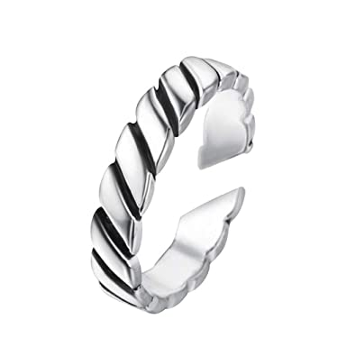 LALA JEW Viking Rings Antique Silver Retro Ring for Women Men