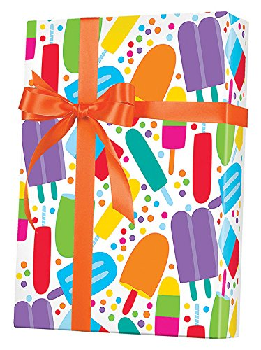 Popsicle Party Gift Wrapping Paper Roll - 24