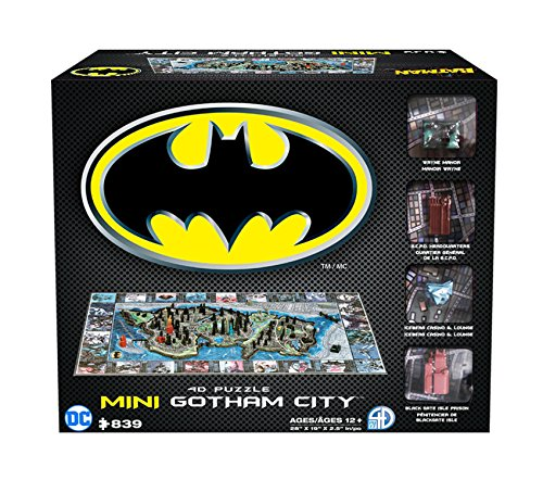 4D Cityscape Batman Mini Gotham City 3D Time Puzzle ()