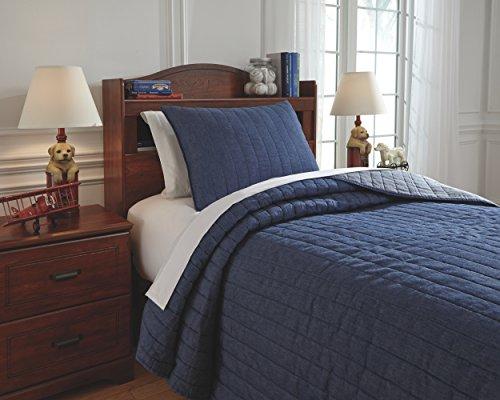 Blue Denim Comforter Set (Signature Design by Ashley Furniture Signature Design Capella Quilt Set-Set of 2-Youth-Denim, Twin)
