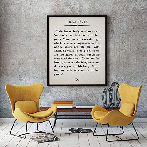 Les Connie Teresa of Avila Christ Has no Body Now Quote Christian Poster Christian Quote Teresa of Avila Quote Bible Quote Scripture Quote Saint Quote (Teresa Of Avila Christ Has No Body)