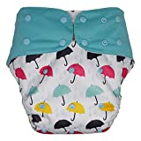 Big Kids Cloth Diaper Cover – Reusable & Washable for Special Needs Incontinence (Umbrella, Youth)