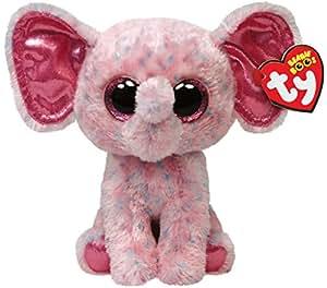 TY - Peluche elefante, 15 cm, color rosa (United Labels 36728TY)