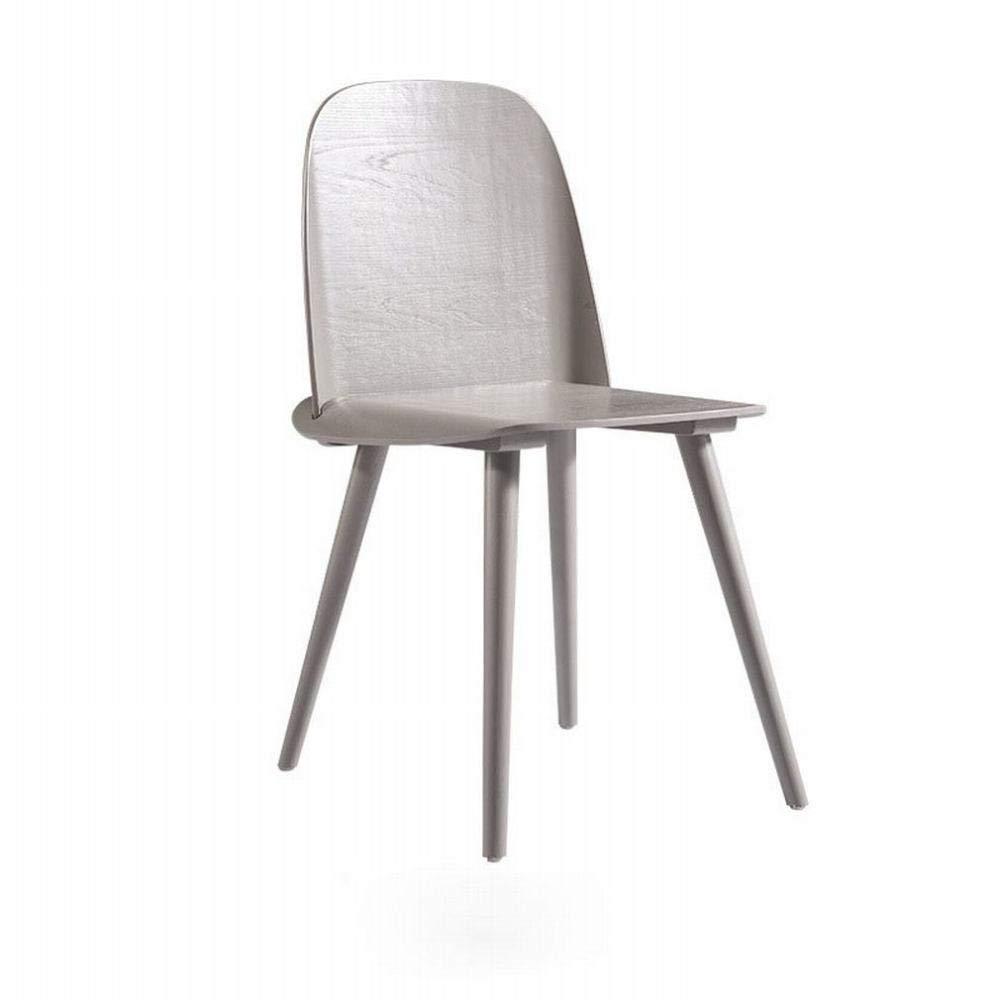 xy Sedia da Pranzo di Design in Legno Nordico Moderno Semplice Casual Moda Creativa Ristorante Rosso Rosso Indietro Sedia,Burlywood,1