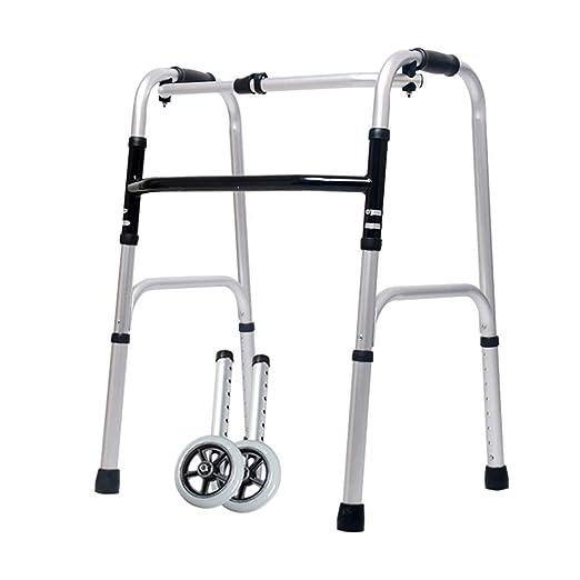 Bseack Andador con Ruedas Andador Plegable, Andador de Aluminio ...
