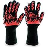 Extreme Heat Resistant Gloves, BBQ Gloves, Hot Oven Mitts, Charcoal Grill, Smoking, Barbecue Gloves for Grilling Meat Gloves, Insulated, Silicone Non-Slip Grips, Fits Any Hand - BBQ Dragon