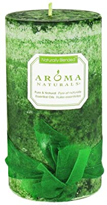 Aroma Naturals Evegreen Holiday Essential Oil Pillar Candle