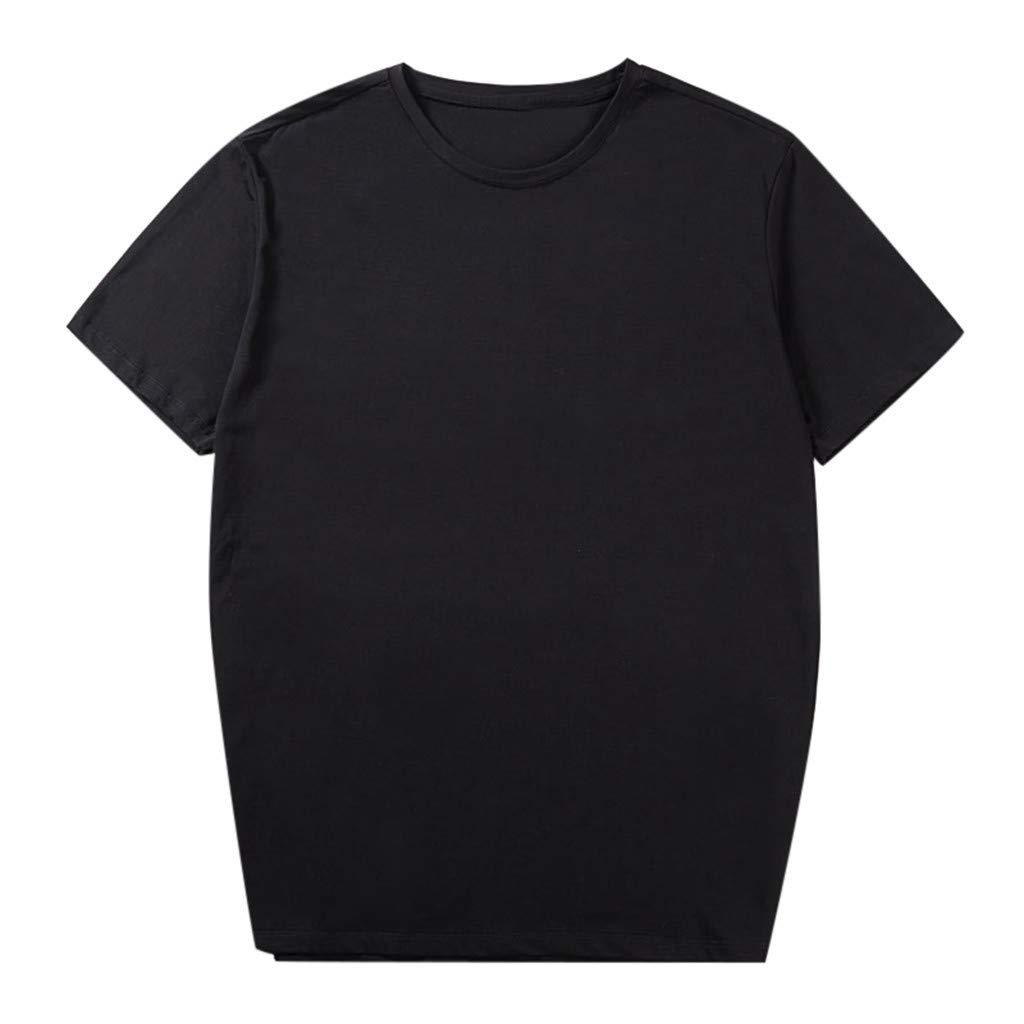Men Fashion Solid Cotton Design T-Shirt Casual Tops Blouse Plus Size 2xl-6xl Tronet Mens Summer t Shirts Short Sleeve by Tronet Men's tops