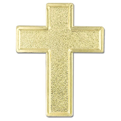 PinMart's Traditional Gold Plated Cross Religious Church Lapel ()