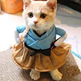 Amyove Funny Cat Dog Costume Uniform Suit Clothes Puppy Dressing Up Suit Party Cosplay Clothes