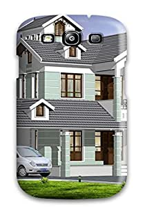 JRTMBht1425jFDhs Case Cover Protector For Galaxy S3 Architecture Houses Case