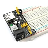 Ecloud Shop® 3.3V / 5V MB102 breadboard power supply module for the Arduino board provided