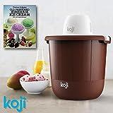 Koji Ice Cream Maker Old Fashioned Icecream Making - Electric Churning Machine - Extra Recipe Book