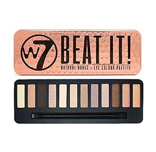 W7 Beat It! Natural Nudes Eye Colour Palette Tin, 12 Eye Sha
