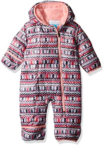 - Columbia Unisex Baby Infant Frosty Freeze Bunting, Rosewater Zigzag Print, 18/24