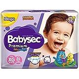 Fraldas descartáveis Babysec Premium Galinha Pintadinha Flexi Protect, 26 Unidades, Tamanho XG 11 - 14 Kg