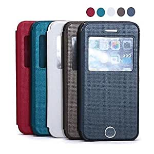 YXF Special Design PU Leather Full Body Case with Stand and Botton for iPhone 6(Assorted Colors) , Black