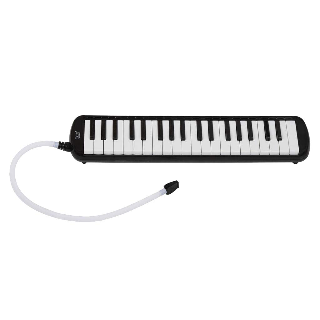 kesoto 37 key Melodica Musical Instrument Piano Style Gift for Music Lovers Beginner with mouthpieces & Carrying Bag - Black, 48 x 11 x 4.5cm