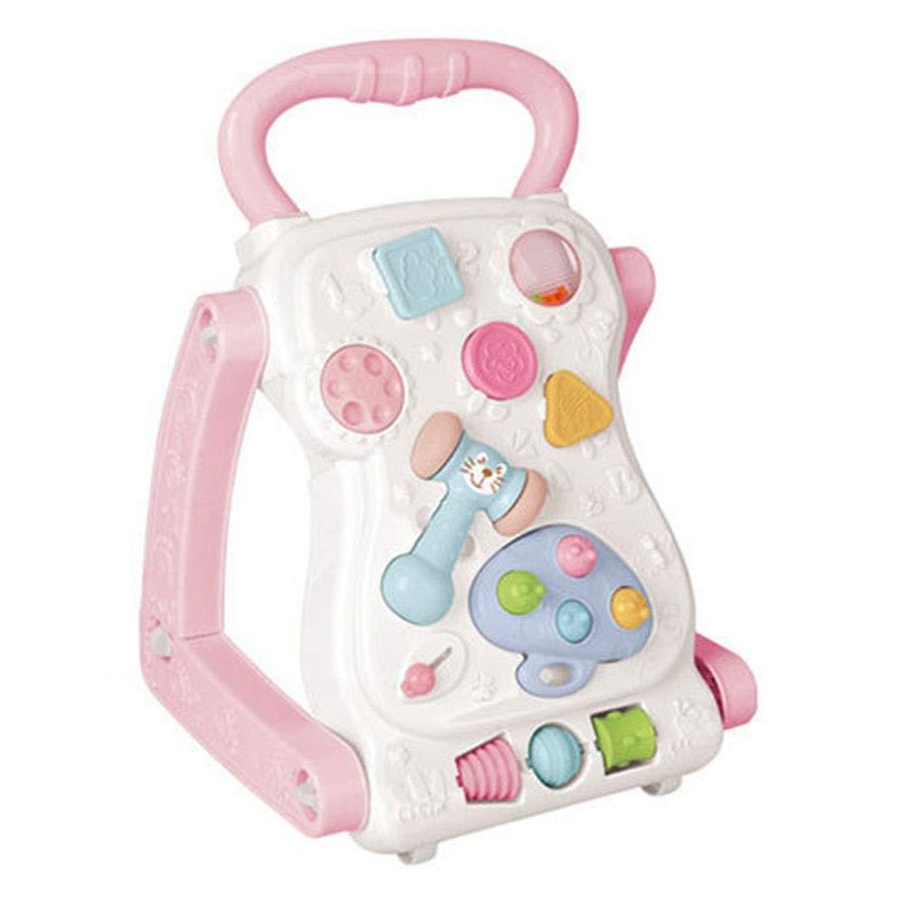 Zhangcaiyun DREI-in-Eins-Lauflernhilfe für Babys Baby-Wanderer-Spielzeug-Baby-Spaziergänger-Baby, das früher Wagen lernt (Farbe   Blau, Größe   45  29  31cm) Rosa 452931cm