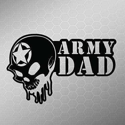 Army Dad Skull Vinyl Decal Sticker | Cars Trucks Vans Walls Laptops Cups | Black | 5.5 X 3.5 Inch | KCD1702B ()