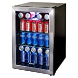 NewAir AB-850 84 Can Beverage Cooler, Stainless Steel