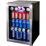 NewAir Beverage Cooler And Refrigerator, Small Mini Fridge With Glass Door,  Perfect For Soda