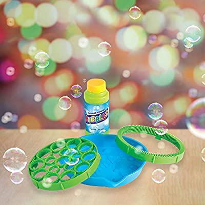 Bubble Gun for Toddlers that Makes Thousands of Bubbles for Kids - Bubble Blaster Maker Great for Indoor and Outdoor Activities - Bubble Toy with Non Toxic Bubble Solution: Toys & Games