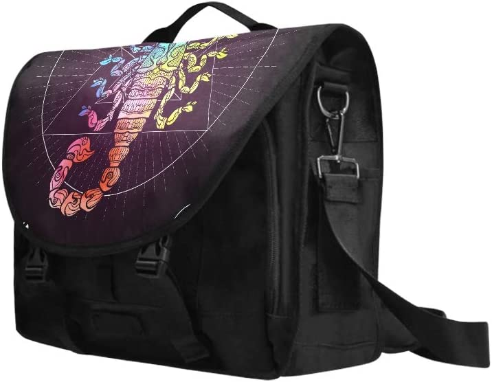Women Laptop Bag Scorpio Zodiac Sign Astrological Horoscope Collection Multi-Functional Cute Satchel Handbags for Women Fit for 15 Inch Computer Notebook MacBook