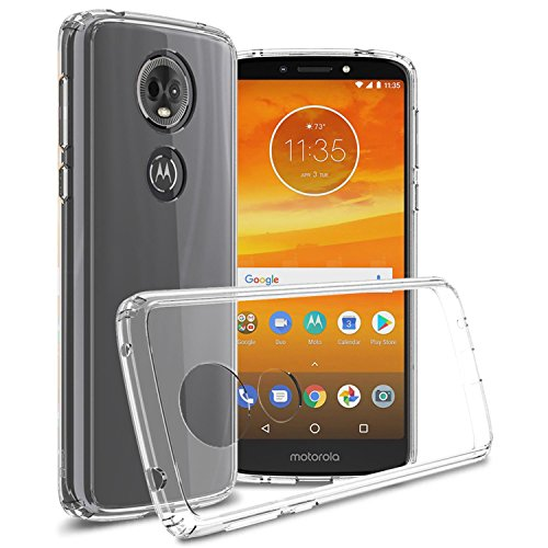 Moto E5 Plus Clear Case, Moto E5 Supra Clear Case, CoverON [ClearGuard Series] Slim Fit Phone Cover with Clear Hard Back and TPU Bumpers for Motorola Moto E5 Plus/Moto E5 Supra - Clear