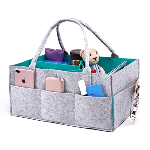 Lemostaar Portable Baby Diaper Caddy: Perfect Travel Organizing Basket for Babies and Kids' Toys & Essentials - Cool and Stylish Nursery Organizer with Free EVA Animal Pieces