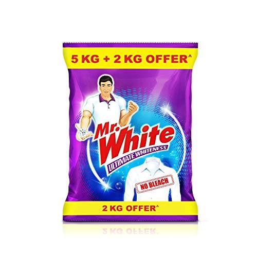 Mr. White Detergent Powder – 5 Kg with Free 2Kg