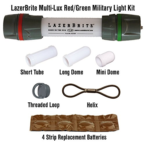 Lazerbrite Multi Lux Red/Green Military Light Kit