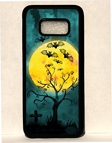 Halloween Bats Water Color Design Spooky Scary Custom Rubber Phone Case Cover is compatible with Samsung Galaxy s3 s4 s5 s6 s7 s8 s8 Plus Note 4 -