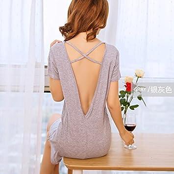 TAOTINGYAN Sleep Dress,Camisón,Pijamas Para Mujer Camiseta De Manga Corta Camisón Femenino Pijamas