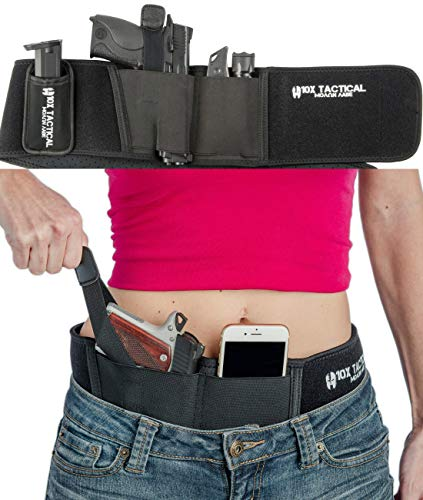 10x Tactical Concealed Carry Holster - Best IWB Gun Belt Holsters to Conceal Pistols, Fits All Firearms, 9mm Smith & Wesson, 38 Special, 40 M P Shield, Glock 17 19-26 42, Taurus PT111 & More (Right)