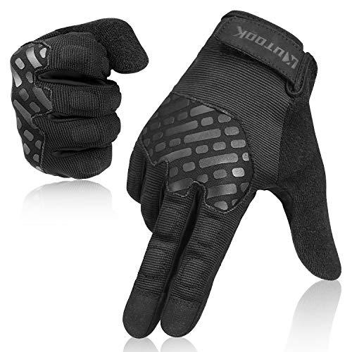 Kutook Shooting Gloves Men Fit Work Gloves Mens Bike Gloves Black Meduim