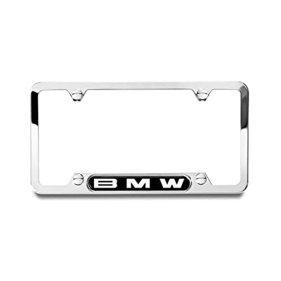 BMW Genuine Polished License Plate Frame Genuine Logo: Automotive