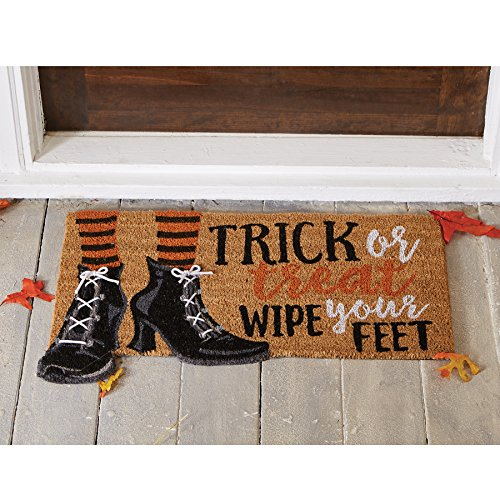 Mud Pie For Halloween (Mud Pie Halloween Witch Trick or Treat Doormat,)