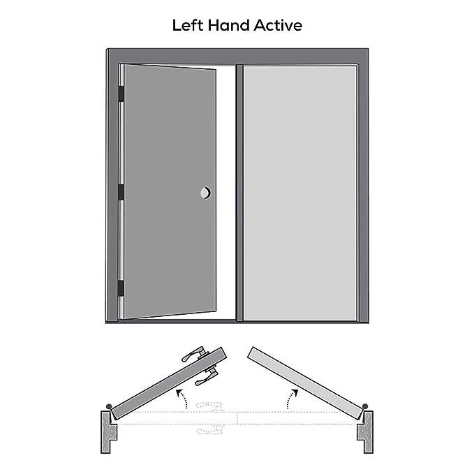 National Door Company ZZ365134BA Solid Core Prehung Interior Double Door 2-Panel Eyebrow Archtop MDF Both Active 64 x 80 on 6-9//16 Jamb Molded