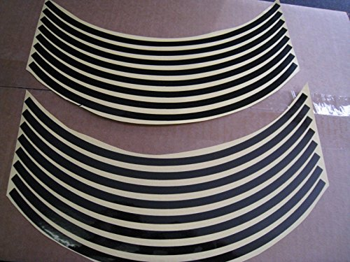 Black Non-Reflective Wheel Rim Stripe Decal Tape for Motorcycle Wheels 17