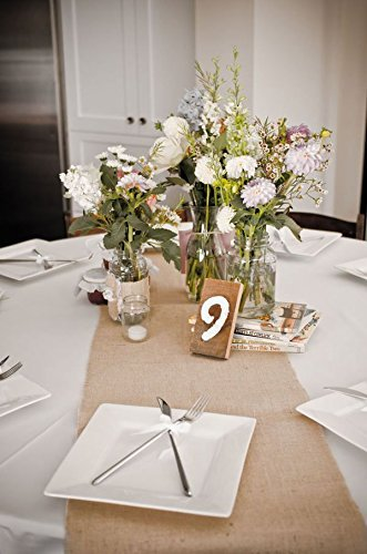 The Rustic Chic Boutique Burlap Table Runners: Rustic Weddings Or Events  90x12 Inch Jute Burlap