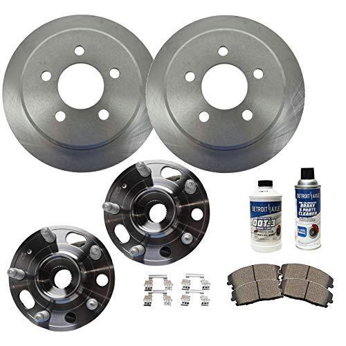 Detroit Axle - Front Wheel Bearing Hub Assemblies and Brake Rotors w/Ceramic Pads for 10-16 Buick LaCrosse - [11-16 Regal] - 10-16 Chevy Equinox - [14-17 Impala] - 13-16 Malibu