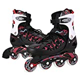 Inline Skates for Kids- Adjustable Inline Skate Girls/Boys Roller Skates for Women Size 12-8 Outdoor Skating Birthday/Christams Gift