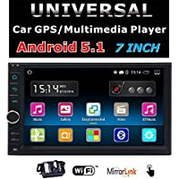 EinCar 7 inch HD Touchscreen Android 5.1.1 Car GPS Navigation Stereo System - 2 Din Quadcore Car Entertainment Multimedia FM/RDS Radio,GPS,WIFI,BT,Mirror Link(No DVD Player) + Rear Camera