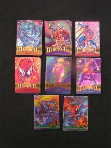 1995 Fleer Marvel Metal Trading Card Set (Complete 138 Card Base Set) - Card Marvel Comic Book