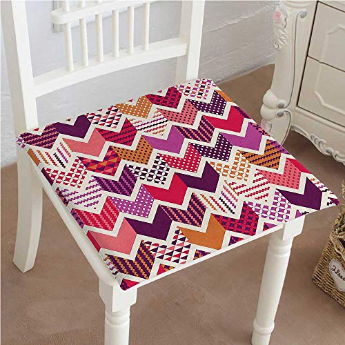 Mikihome Indoor/Outdoor All Weather Chair Pads Arrow Patchwork Cube Seat Cushions Garden Patio Home Chair Cushions 24