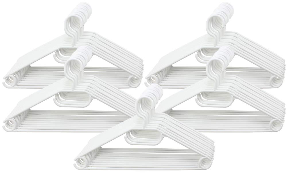 20pcs Clothes Coat Hangers Plastic Adult Antiskid Multi-Functional Hook