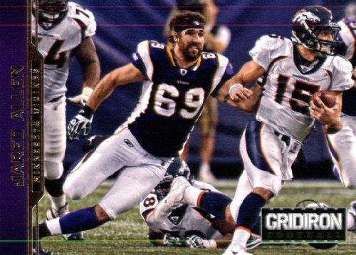 2012 Panini Gridiron Gear Football Card   108 Jared Allen De   Minnesota Vikings